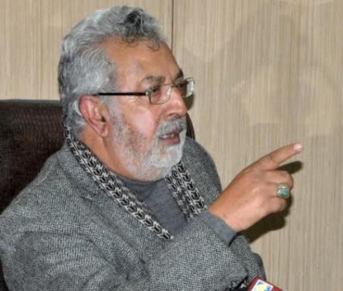 Minister for Medical Education,  Taj Mohi-ud-Din in a press conference