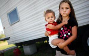 Children living in desperate poverty in America.