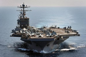 US air craft carrier in the Gulf.