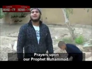 FSA crimes agaionst children, In this video shot a U.S. backed FSA terrorirst gets ready to conduct a human sacrifice in the name of Muhammad.