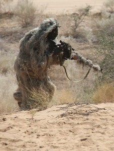 Russian sniper undergoing combat training exercise 2013.