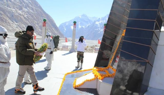 Junior Indian defence minister, Jitendra Singh by laying a floral wreath at the  War Memorial.