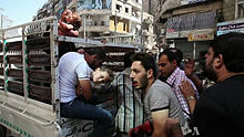 Wounded civilians in Syria.