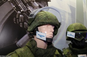 Russian light weight ceramic body armor, incorporated in helmets and vests. Recent reports also suggest that Russian front line units are wearing the new armor, including those deployed in the Ukraine.