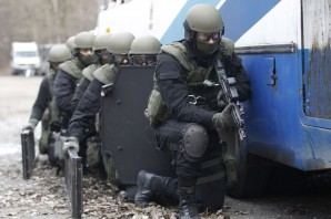Elite Ukrainian SWAT (special weapons and tactics) Team And Border Guards, somewhere near the Russian boarder.