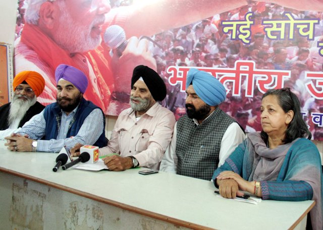 Copy of Sikhs appeal for support to BJP candidates