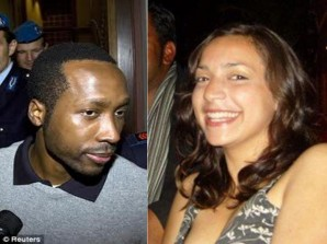Rudy Guede and his victim Meredith Kercher