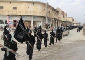 Al-Qaeda on parade in Tel Abyad, Syria near the Turkish boarder region.
