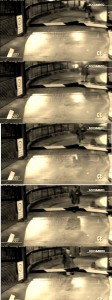 The first 5 Frames of CCTV Video shows a woman who does not look like Amanda Knox.