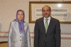 Mrs. Maryam Rajavi, the President-elect of Iranian Resistance met Mr.  Ahmad Jarba, the President of National Coalition for Syrian Revolutionary and Opposition Forces  in Paris on May 23, afternoon.