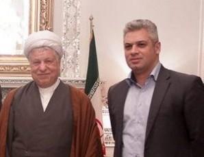 Ayatollah Rafsanjani with Eldarm Mamedov, Tehran Oct. 2013