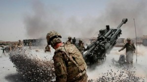 Troops pound enemy positions in Afghanistan.