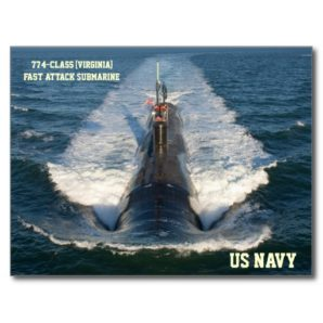 Fast attack submarine the USS Virginia class.