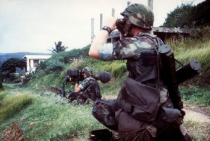 """At one point well into the Grenada operation, the allegedly threatened medical students called in to the command center where l was operating to tell us where they were and to ask where the US military was. The students could hear the gunfire, but no one had tried to """"rescue"""" them. Learning from radio broadcasts that Reagan had acted to save them, the students were growing concerned that they had not been rescued and at how easy it would be for the Cuban military advisers to take them hostage. The military commanders to whom l passed that information told me they had no orders to rescue the American students, despite the fact that the President had been on television that morning justifying the intervention in part by the need to save the medical students."""