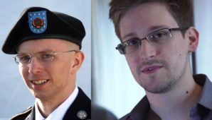 NSA whistleblower Ed Snowden and Army Whistleblower Pvt. Manning.