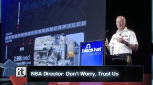 NSA Director at Black Hat conference 2014.