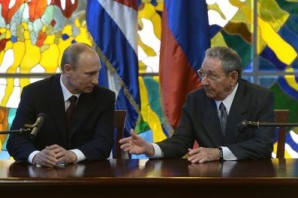 """""""Before that, I had the opportunity to hold a friendly and substantive conversation with Fidel Castro. We discussed key issues in Russian-Cuban cooperation in a very friendly atmosphere. I want to say that we are proud of our rich experience of bilateral cooperation and we value the spirit of sincere friendship and rapport in our relations. I would like to note that we are seeking to create new opportunities in our relations. For that purpose, we decided to write off Cuba's $35 billion debt to Russia. To be more precise, 90 percent of the debt has been written off, while the remaining 10 percent will go towards Cuban investment projects"""", said Putin.  Picture courtesy of the Kremlin press office."""