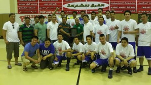 ARCC-EEI headed by Team Manager Romulo Lazaro, won the Premiere League Championships against Dhahran Basketball Association.