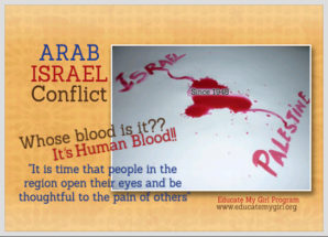 "Arab-Israel Conflict, ""Whose Blood is it?"""
