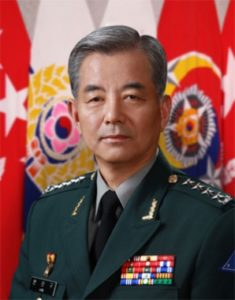ROK General Han Min-Koo, chairman of the ROK Joint Chiefs of Staff, speaks during a joint press conference at the defence ministry in Seoul in this Dec 8, 2010 intelligence file photograph.