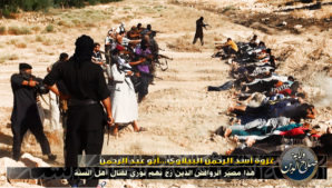 ISIL fighters belonging to the Salahaddin Division in Iraq get ready to commit mass murder of  captured Iraqi army members.