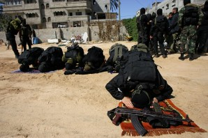 Islamic Jihad fighters prepare for suicide mission in Israel.