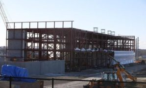 Photo of ongoing construction of NBAF facility in Manhattan.