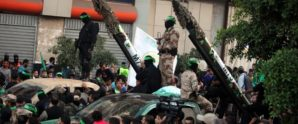 Hamas moves rockets into position amid a crowd of civilians who are voluntarily acting as human shields?