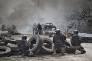 Besieged Ukrainian soldiers near Kiev. Many are deciding to defect to Russia rather than partake in actions against their own people.