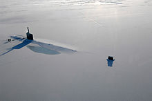 USS Annapolis attack sub somewhere in the Arctic.