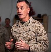 General Dunford the ineffectual commander of ISAF in Afghanistan leaves that country with no notable successes. Essentially he was promoted out of that position to head the U.S. M.C.