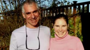 Amanda Knox with Dr. Greg Hampikian.