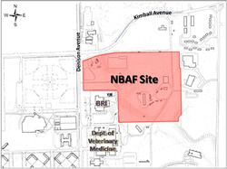 Map of the NBAF project in Manhattan, Kansas.
