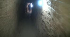 Terrorist tunnel in Syria.