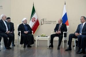 Rhouhani and Putin meet.