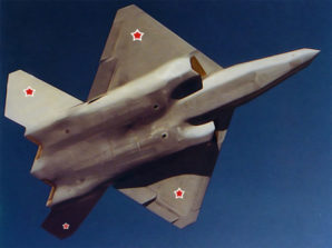 Fighter jet for 5th-generation tested by Russia. .The Sukhoi T-50 prototype will challenge the US F-22 Raptor. The specifications and design of Russia's new fighter have been shrouded in secrecy. Russian news agencies reported the plane has a 5,500-kilometer (3,400-mile) range.Officials have expressed hope that the T-50 will enter service in 2015. By all indications Russia will meet or achieve ahead of that target date.