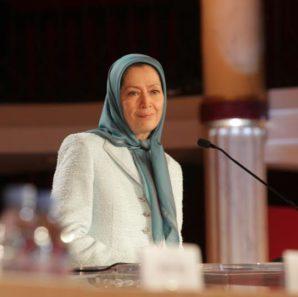 Maryam Rajavi addressing the Conference