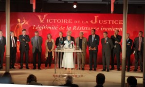 Maryam Rajavi Addressing a Conference in Paris on her victory in closure of case against Iranian Resistance