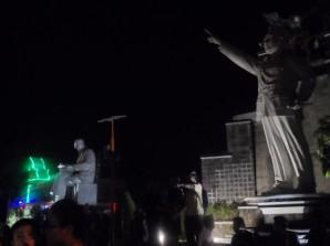 Soekarno-Hatta Statue at Puewakarta, Indonesia