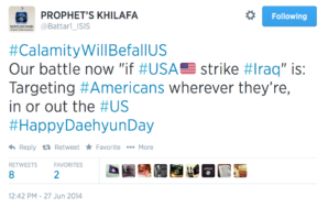 ISIL twitter threat against the US.