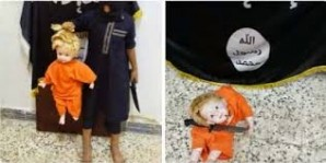 ISIS using dolls to train children as young as 7 to behead human beings...