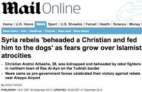 Headline in a major British newspaper in the UK.