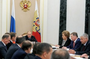 """We have a comprehensive strategic document in place – the Information Security Doctrine. Starting last year, we began setting up a state system to detect, prevent and liquidate the consequences of computer attacks against Russia's information resources. We are establishing modern, protected communication networks and systems for our defense and security needs and for the law enforcement agencies' effective operation"", said Putin to Security Council members on October 1, 2014."