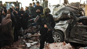 The bombed out wreakage of a police headquarters builing in Egypt where 13 people were killed. Officials believe the terrorist specifically targeted the police in this case.