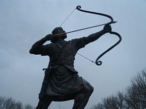 Arash Kamangir statue.