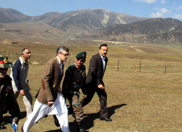 JK CM Omar Abdulla visits Tosha Maidan