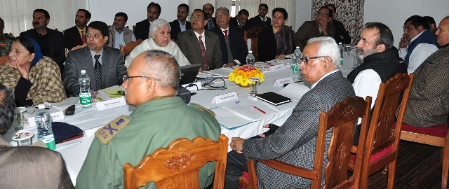 GOVERNOR CHAIRING RED CROSS MEETING AT RAJBHAVAN