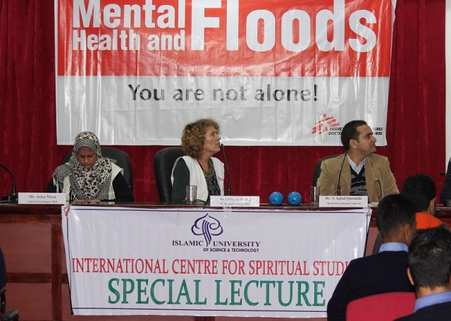 IUST hosts special lecture on mental health and floods