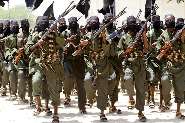 Al Shabab fighters in training camps