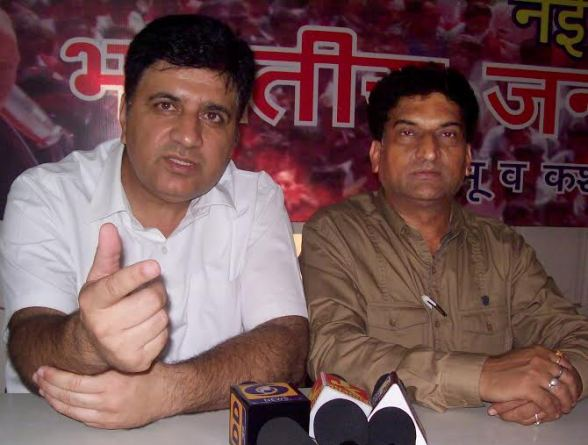 BJP State Spokespersons Sunil Sethi (senior advocate) and Balbir Ram Rattan, both while addressing the press conference